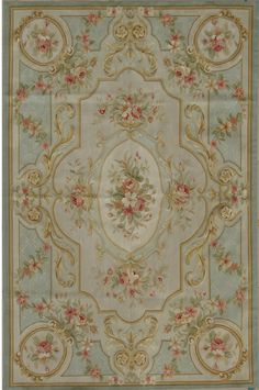 French rugs antique | Silk Aubusson rug | French rugs | Yes, one like this for my bedroom.