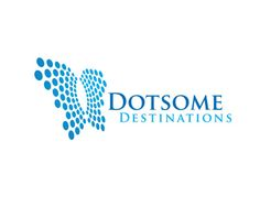 Dotsome Destinations Logo design - A butterfly image made out of a dot pattern.  Price $350.00