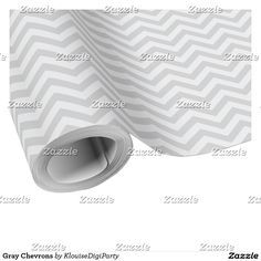 Gray Chevrons Wrapping Paper