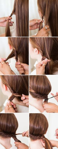 ▷ 1001 + inspiring ideas for simple hairstyles for everyday life - Haarfrisuren - Cabelo Casamento Pony Hairstyles, Quick Hairstyles, Wedding Hairstyles, Asian Hairstyles, Braids Tutorial Easy, Diy Tutorial, Easy Everyday Hairstyles, Types Of Braids, Magic Hair