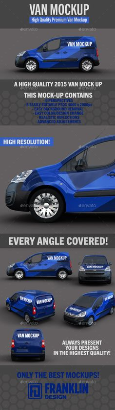 Van Mockup #design Download: http://graphicriver.net/item/van-mockup/13403925?ref=ksioks