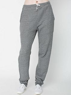 Classic unisex sweatpants featuring a drawstring waistband, large side pockets, a single back pocket.
