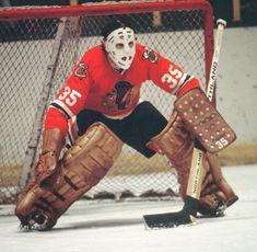 Tony Esposito Unsigned Chicago Blackhawks (s) Blackhawks Hockey, Hockey Goalie, Chicago Blackhawks, Hockey Players, Ice Hockey, Hockey Pictures, Hockey Room, Bobby Orr, Goalie Mask