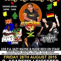 Stone Love, Jugglerz & Immortal In O2 Academy Leicester 2015 by Reggae Tapes on SoundCloud