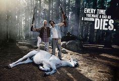 Same a unicorn , make an ad that relates .