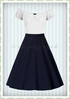 56af5cc2777bda Banned 50er Jahre Retro Rockabilly Petticoat Rock - Di Di Skirt - Navy