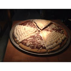 Chocolate and marshmallow pizza!