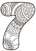 Zentangle Numbers Coloring pages. Select from 31983 printable Coloring pages of cartoons, animals, nature, Bible and many more. Sunflower Coloring Pages, Coloring Pages To Print, Free Printable Coloring Pages, Coloring Book Pages, Coloring Pages For Kids, Coloring Sheets, Printable Crafts, Printables, Detailed Paintings