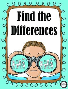 This download includes 30 find the differences puzzles and the solutions to the…