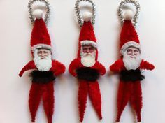 Image result for Victorian feather tree chenille ornaments