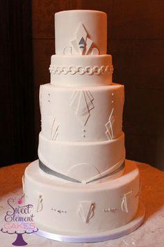 art deco wedding cake - Google Search