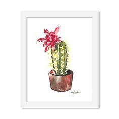 cactus - 8 x 10 print - JustGreet Watercolours, Cactus, Art Prints, Plants, Art Impressions, Plant, Planets