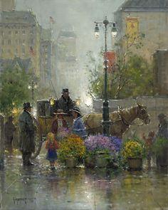 Shopping for Flowers - G. Harvey - World-Wide-Art.com