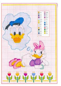 `donald duck & daisy