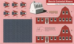 All sizes | Dutch Colonial House - Cut Out Postcard | Flickr - Photo Sharing!