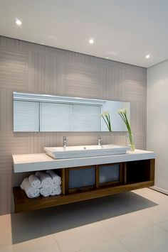 I like the look and storage area under the floating sink