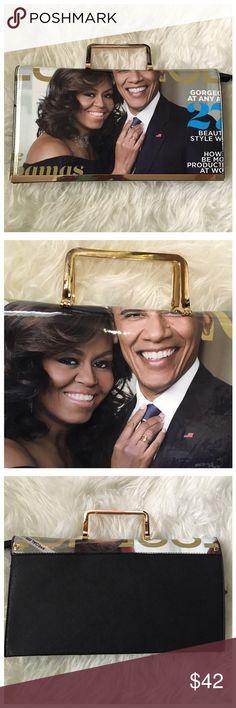 Michelle Obama Magazine Print Purse Michelle Obama Magazine Print Purse with an optional shoulder strap. Bags Clutches & Wristlets