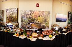 Panorama view of buffet set up