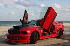 """americanclassicmusclecars: """"2008 Ford Mustang 'Red Mist' Movie Car Replica, 3 OF 3 BUILT AS RED MIST. """" Classic Car Trader www.pinterest.com... Click Here Buy Car..."""