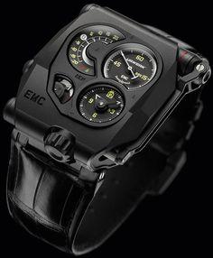 La Cote des Montres : La montre Urwerk EMC Black - Quand l'électronique nous dit tout de la mécanique