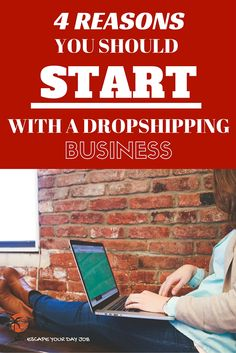 I've been making a very good financial living online (over $20k per month) for years now. And I want to show you why I think your first online business should be a Drop Shipping businesses. Read this quick post and you'll see why Drop Shipping is the way to go! You'll also find access to my free Quick Start guide to a profitable dropshipping business in less than 30 days. => http://escapeyourdayjob.com/4-reasons