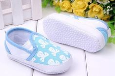 Baby Boys Pre Walker Soft Sole Shoes, Blue with White Candy Skulls