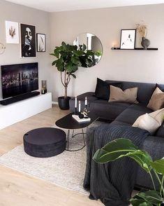 Living Room Decor Cozy, New Living Room, Living Room Interior, Home And Living, Living Room Ideas Dark Furniture, Living Room Ideas 2020, Small Living Rooms, Home Room Design, Home Interior Design