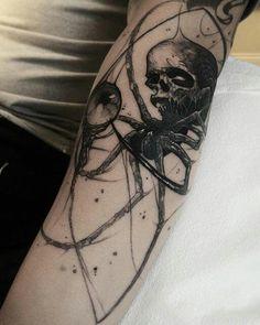 Skull spider by Brandon Herrera (@ brandon__herrera) #worldfamousink #black…