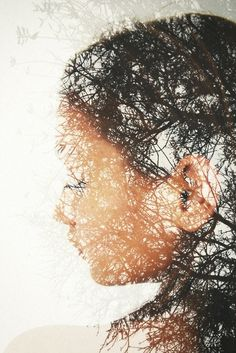 mixed media double exposure photograph.