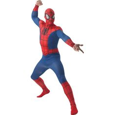 Spiderman Adult Costume ($31) ❤ liked on Polyvore featuring costumes, superhero costumes, super hero costumes, superhero halloween costumes, adult star costume and white halloween costumes