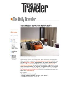 """CondeNastTraveler's """"New Hotels to Watch for in 2014"""" roundup. @Matty Chuah William #Travel  Click here for more: http://cntrvlr.com/1eONkC2"""