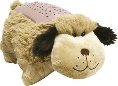 """Pillow Pets Dream Lites - Snuggly Puppy 11"""" by OnTel. $25.00. Projects a starry sky on your ceiling and walls!. Sleep Timer Option. Runs on 3 AAA Batteries or Ac Adpater (Not Included). The Night-Lite That Turns Your Room Into A Starry Sky! Makes Bedtime FuN!. Comforting Pillow Pets. Helps Alleviates Fear of the Dark.. Dream Lites Pillow Pets Snuggly Puppy (Golden Blonde)- As Seen On TV The Night-Lite That Turns Your Room Into A Starry Sky!     Runs on 3 AAA Batteries or ..."""