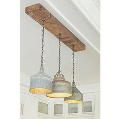 Galvanized Farmhouse Rustic Kitchen Pendant Lights