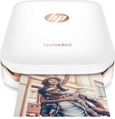Amazon.com: HP Sprocket Portable Photo Printer, X7N07A, Print Social Media Photos on 2x3 Sticky-Backed Paper - White : Electronics Hp Sprocket App, Hp Sprocket Photo Printer, Best Portable Photo Printer, Portable Printer, Usb, Wi Fi, Accessoires Photo, Mobile Photos, Apps