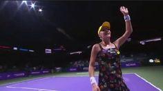That was unexpected: Agnieszka Radwanska & her disco daisy dress beats Petra Kvitova 6-2, 6-3 in Singapore