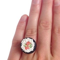 Sushi Roll Ring – Shelfies Sushi Rolls, All Design, Make You Smile, Gemstone Rings, Community, Make It Yourself, Jewellery, My Style, Board