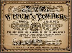 Apothecary Label Halloween Witch Potion Vintage by chocolaterabbit Halloween Apothecary Labels, Halloween Potion Bottles, Halloween Labels, Halloween Party Favors, Fete Halloween, Apothecary Jars, Halloween Cards, Holidays Halloween, Vintage Halloween