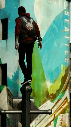""""""" he's my best friend. V Games, Video Games, Game Character, Character Design, Character Ideas, Infamous: Second Son, Delsin Rowe, Foto Art, Cool Wallpaper"""
