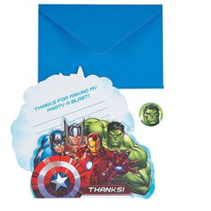 Marvel Avengers™ Thank You Cards - OrientalTrading.com