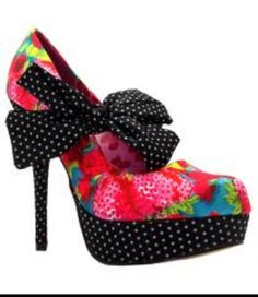 53e318dd394 Iron Fist Womens Indescent Obsession Polka Dot Pink High Heel Platform Shoes  shoes-other-uk