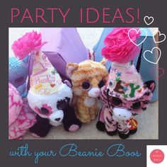 Inspiration and free printables for Beanie Boo party.