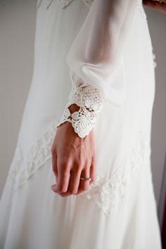 Detalle puño vestido novia
