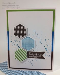 Love the colors on this and the simplicity, yet very dynamic card Creative Blog Hop — EZPeasyCards