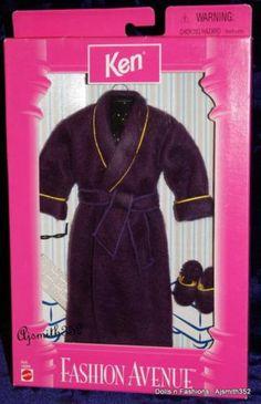 Barbie Ken Doll Friends Outfit 1998 Fashion Avenue Purple Robe 23128 | eBay