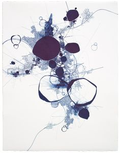 "Derek Lerner; Pen and Ink 2012 Drawing "" Asvirus 34"""