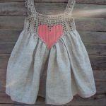 Kumaşla Örgü Kız Çocuk Elbise Modelleri ve Yapılışı 54