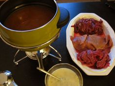 How to Fondue Meat. Great thing to make if friends are coming over.