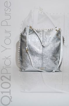 Badgley Mischka - Billie Metallic Crinkle Tote.   Go to wkrq.com to find out how to play Q102's Pick Your Purse!