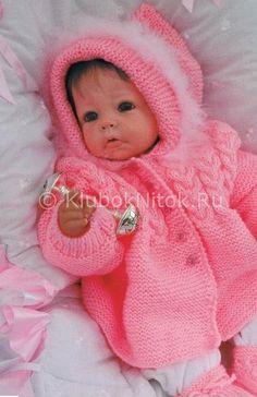 Розовое пальто | Вязание для девочек | Вязание спицами и крючком. Схемы вязания.