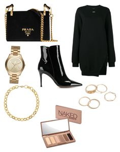 """""""patent leather chelsea boots"""" by bethanyyk on Polyvore featuring Gianvito Rossi, Off-White, Prada, Michael Kors, Laundry by Shelli Segal and Urban Decay"""